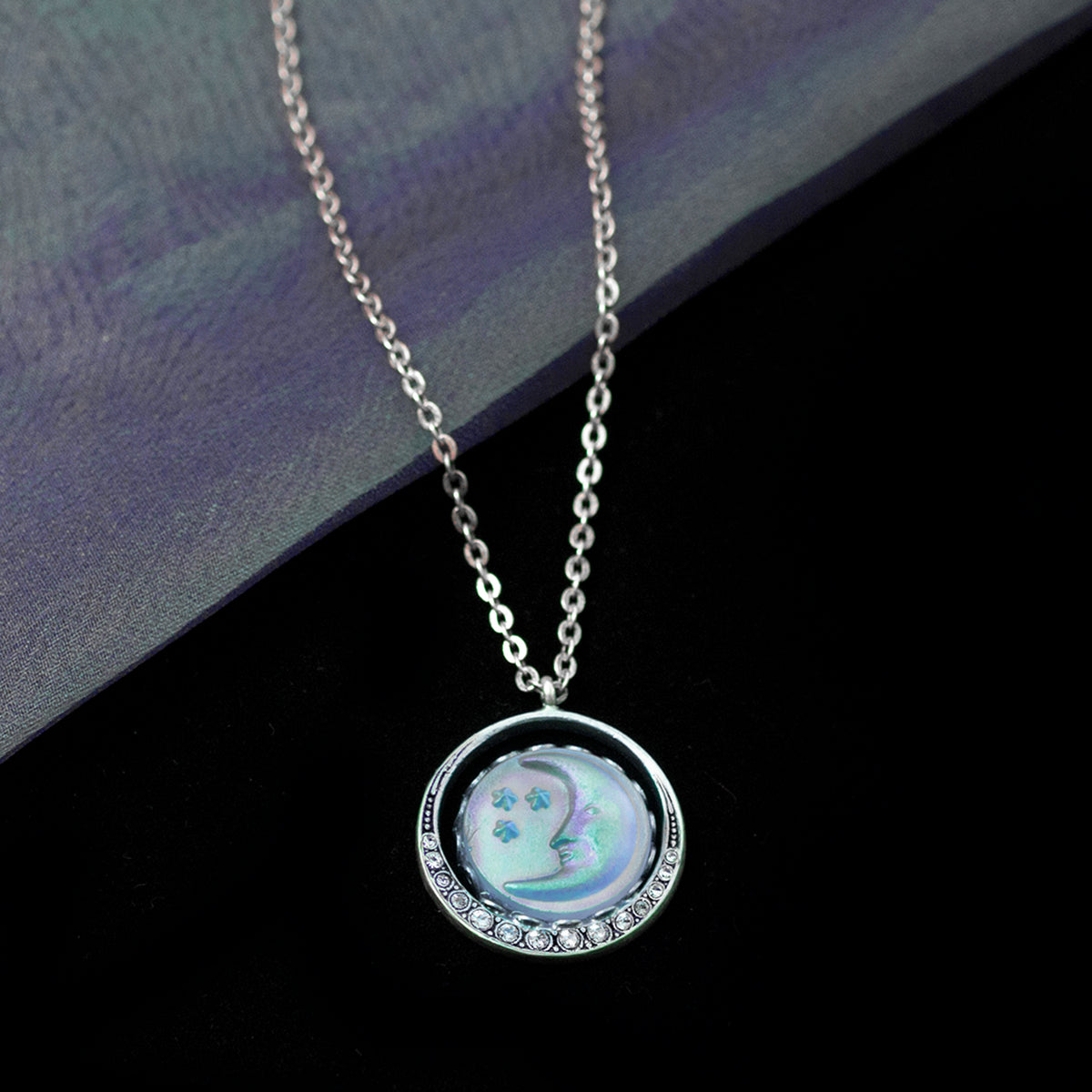 Iridescent Moon Necklace N1631 - Sweet Romance Wholesale