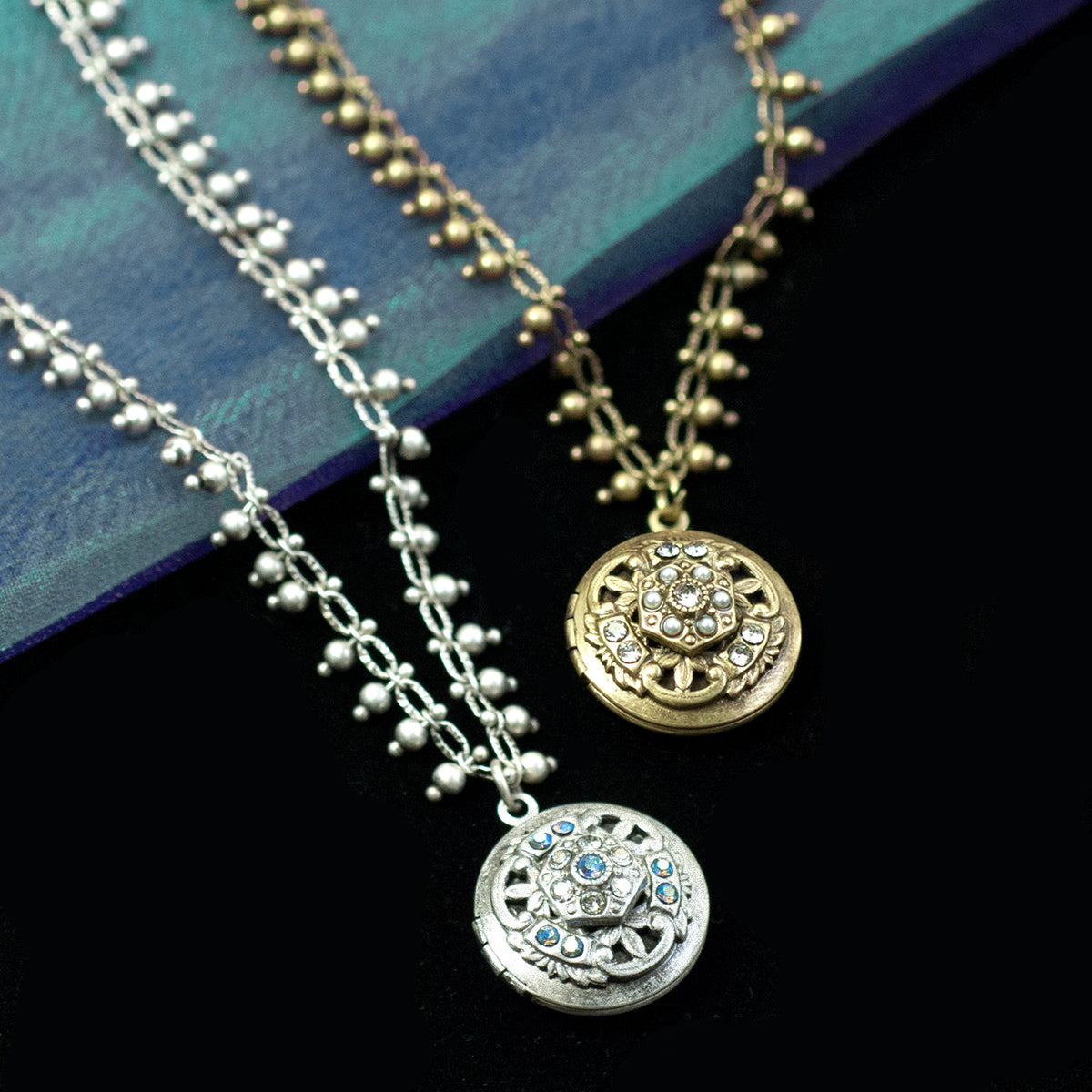 Locket Confetti Necklace N1632 - Sweet Romance Wholesale