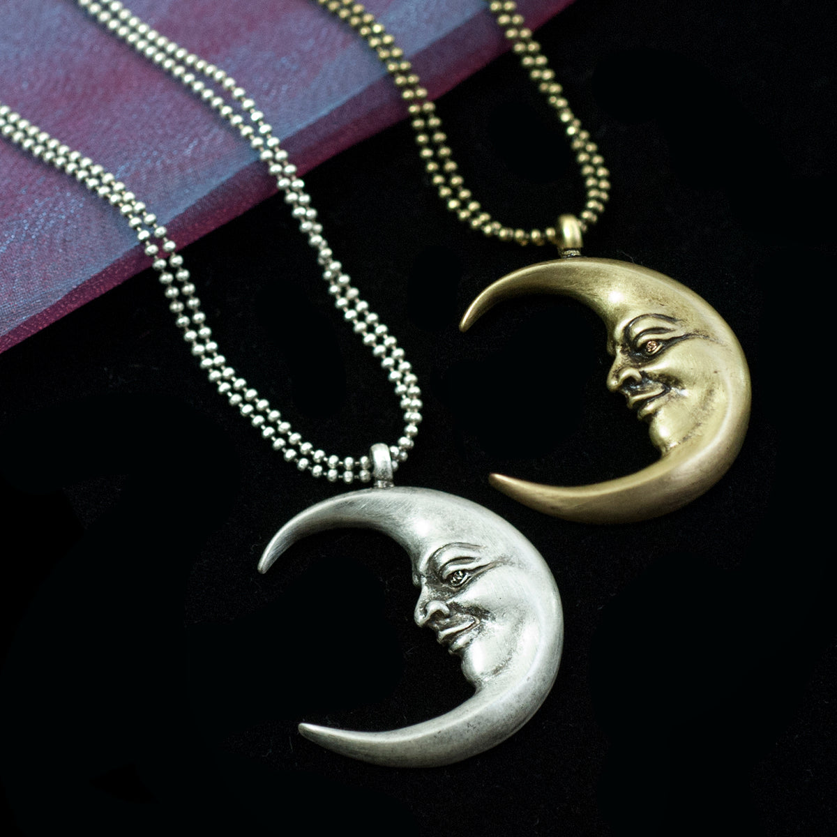 Man in a crescent Moon Necklace N1638 - Sweet Romance Wholesale