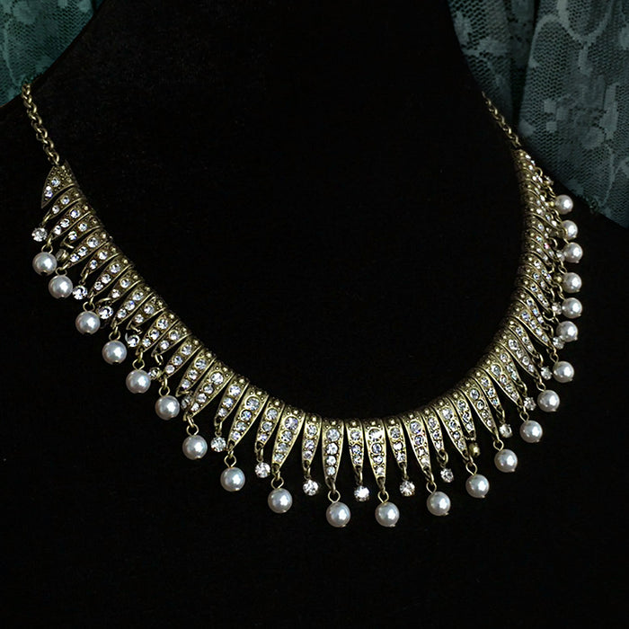 Vintage Art Deco Statement Necklace & Earrings Set - Sweet Romance Wholesale