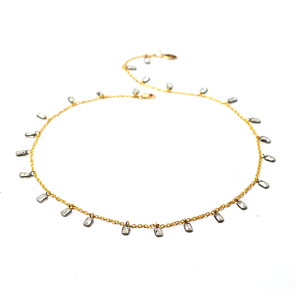 Crystal Confetti Necklace N1701 - Sweet Romance Wholesale