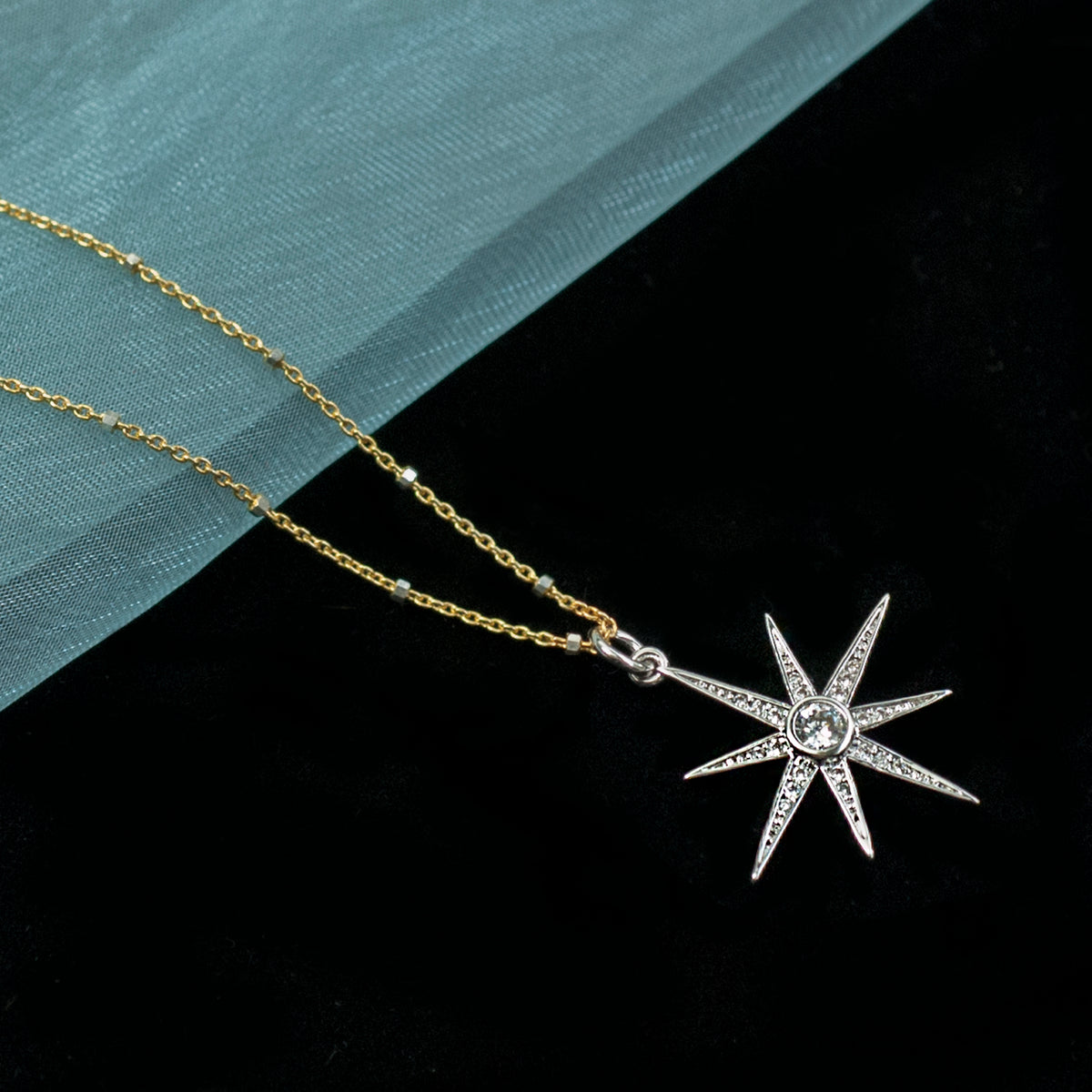 North Star Pendant Necklace N1702 - Sweet Romance Wholesale
