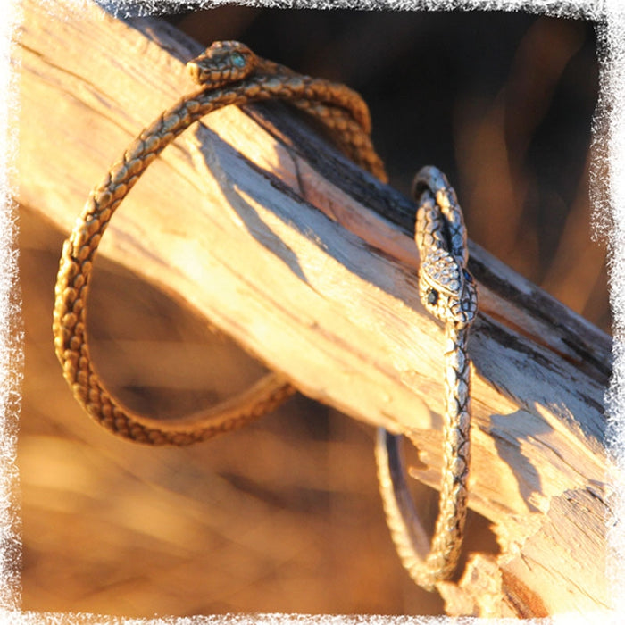 Guardian Snake Bangle Bracelet - Sweet Romance Wholesale