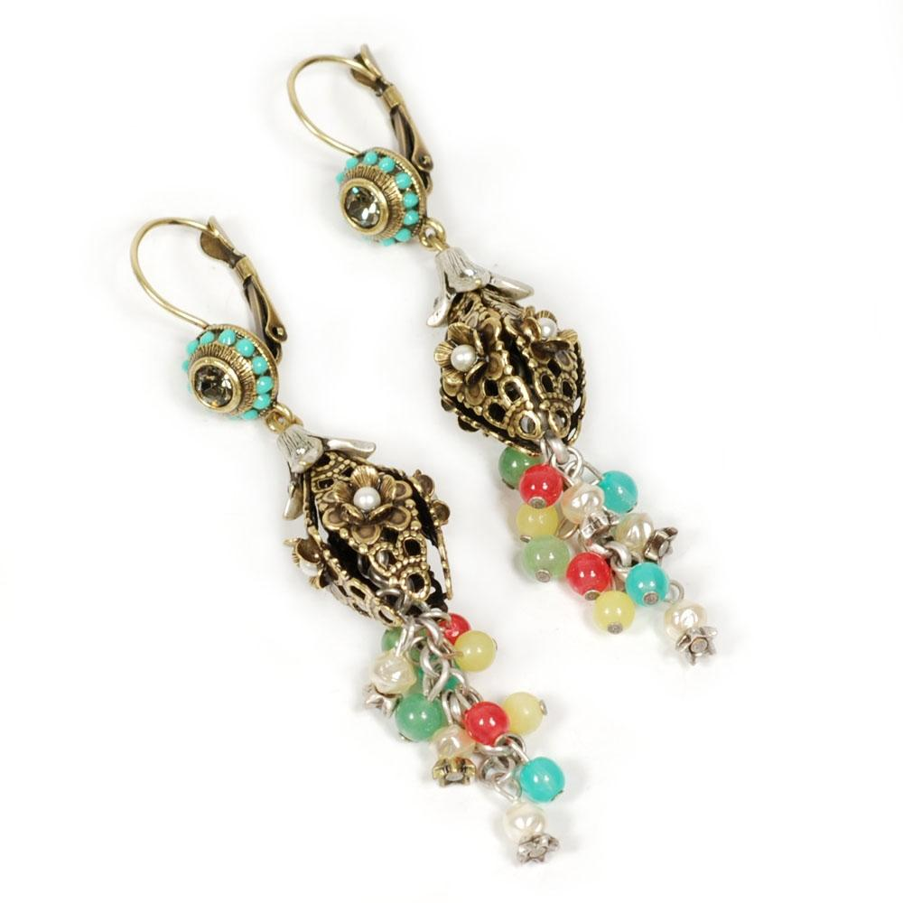 Canasta Lantern and Bead Dangle Earrings - ONLY 6 LEFT!