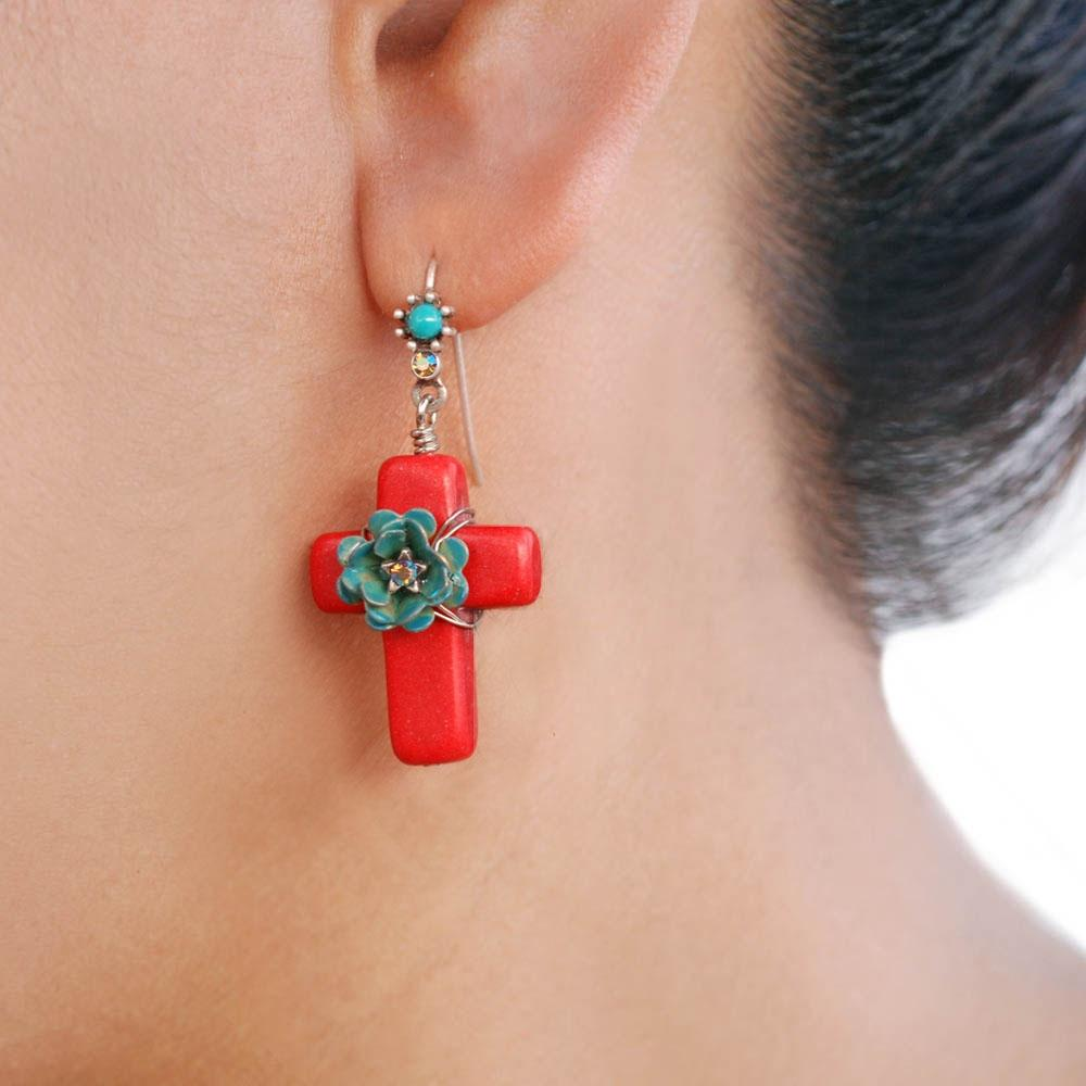Pueblo Crosses Earrings E276