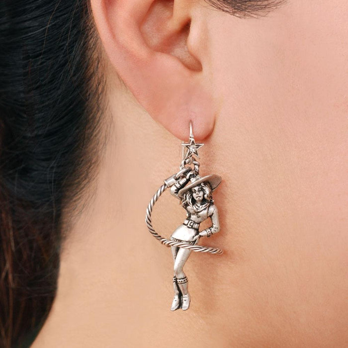Cowgirl Lasso Earrings OL_E316 - Sweet Romance Wholesale