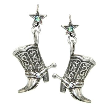 Cowgirl Boot Earrings E319