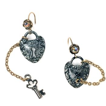 Lock 'em Up Earrings OL_E323 - Sweet Romance Wholesale