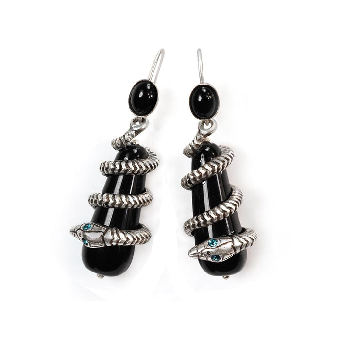 Coiled Snake Earrings OL_E344 - Sweet Romance Wholesale