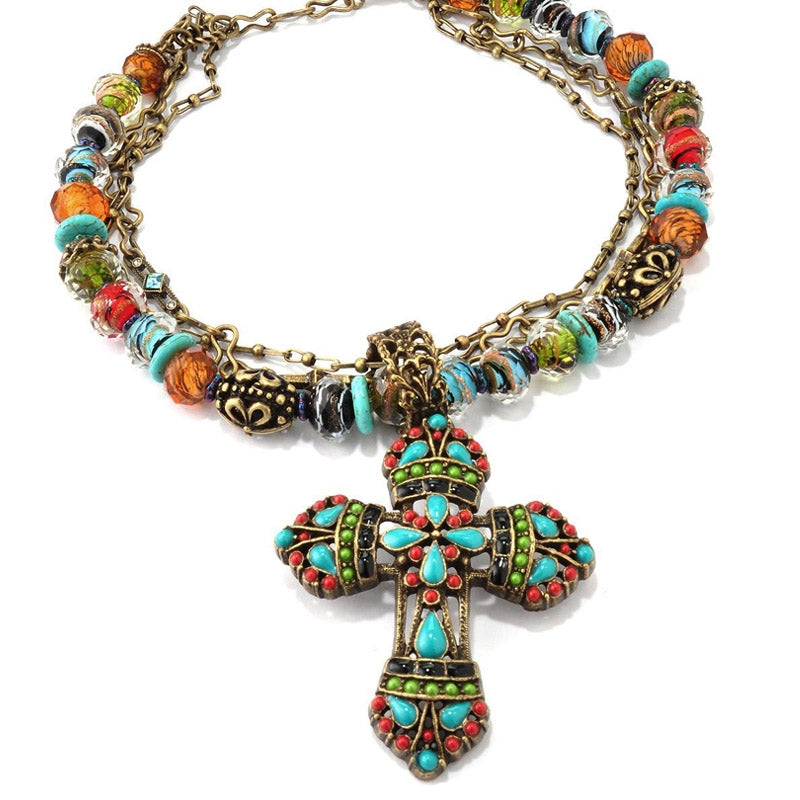 Mayan Cross Necklace N124