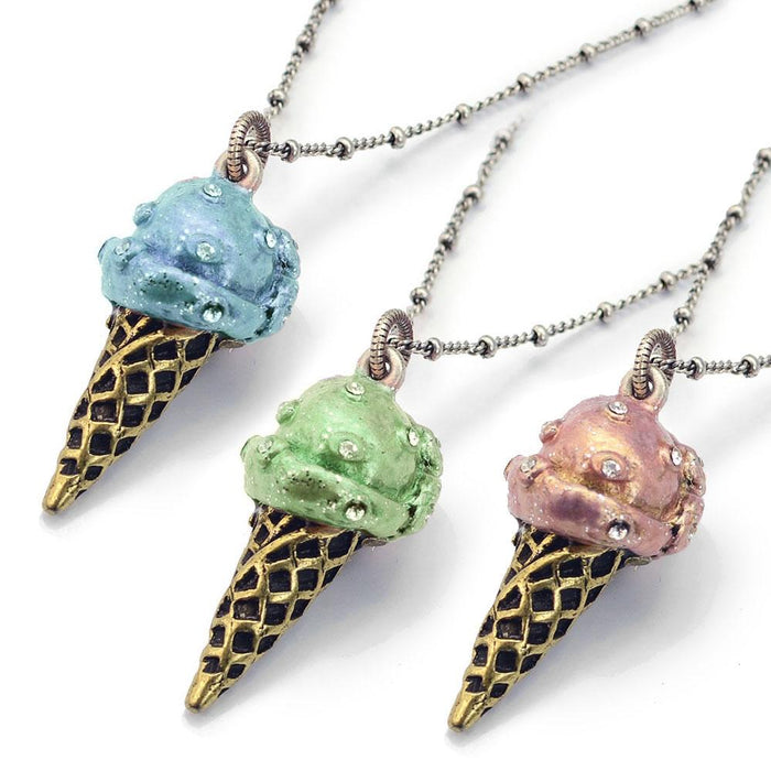 Ice Cream Pendant Necklaces OL_N145 - Sweet Romance Wholesale