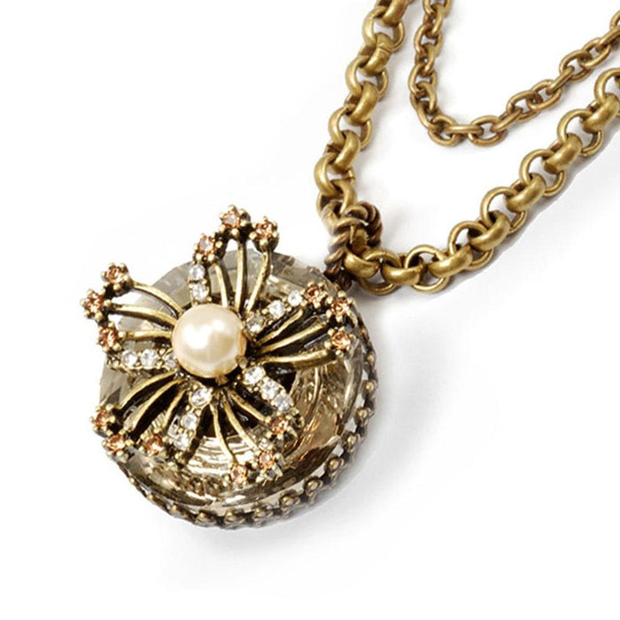 Flower Queen Crystal Necklace N193 - Sweet Romance Wholesale