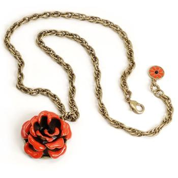 Cabbage Rose Necklace OL_N226 - Sweet Romance Wholesale