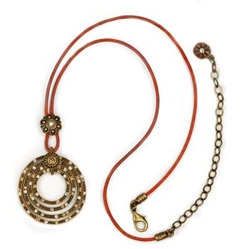 Four Circle Ranch Necklace OL_N272-BZ - Sweet Romance Wholesale