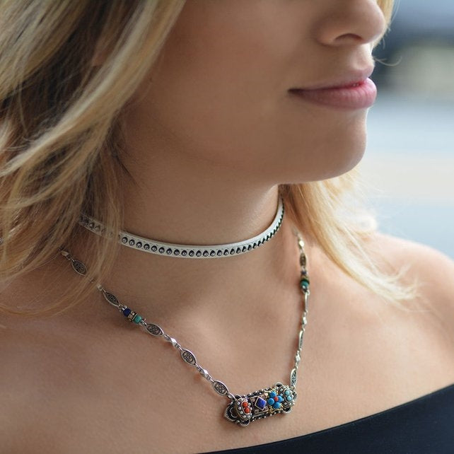Desert Gypsy Bar Necklace N298 - Sweet Romance Wholesale