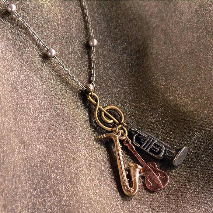 Music Charm Necklace OL_N314 - Sweet Romance Wholesale