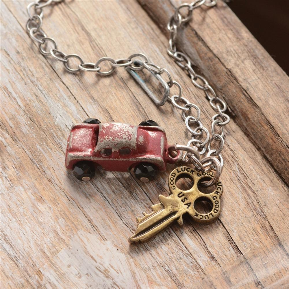 Junk Car & Key Necklace OL_N317 - Sweet Romance Wholesale