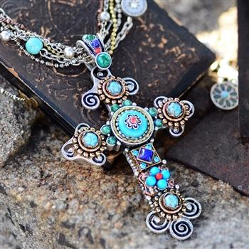 Desert Gypsy Cross Necklace OL_N348 - Sweet Romance Wholesale