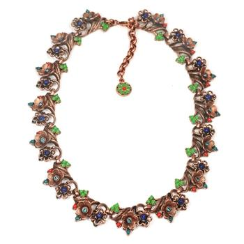 Cactus Flower collar Necklace OL_N369-CO - Sweet Romance Wholesale