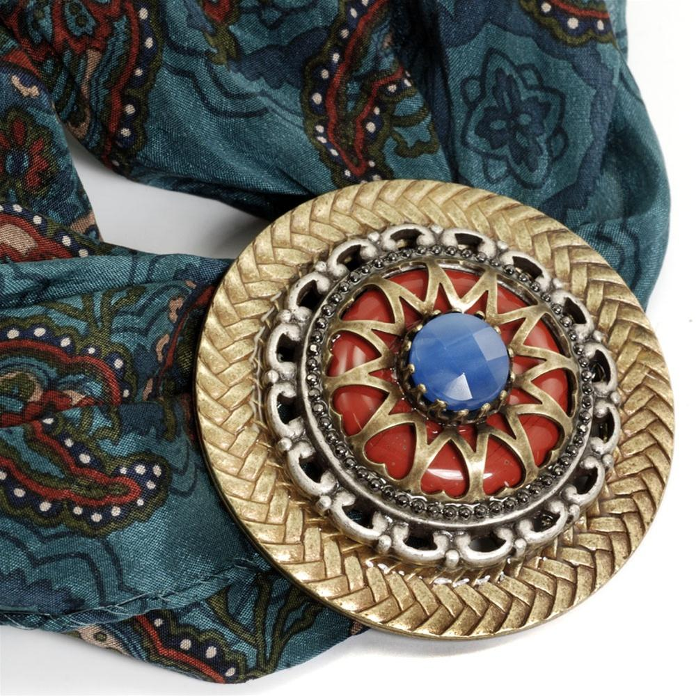 Stacked Medallion Brooch OL_P102 - Sweet Romance Wholesale