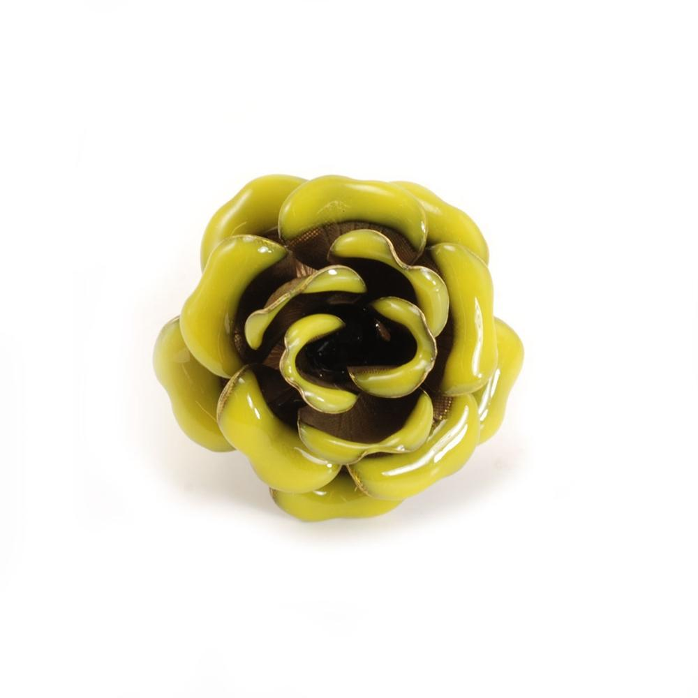 Enamel Rose Rings OL_R276 - Sweet Romance Wholesale