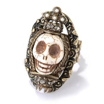 Sugar Skull Ring OL_R269 - Sweet Romance Wholesale