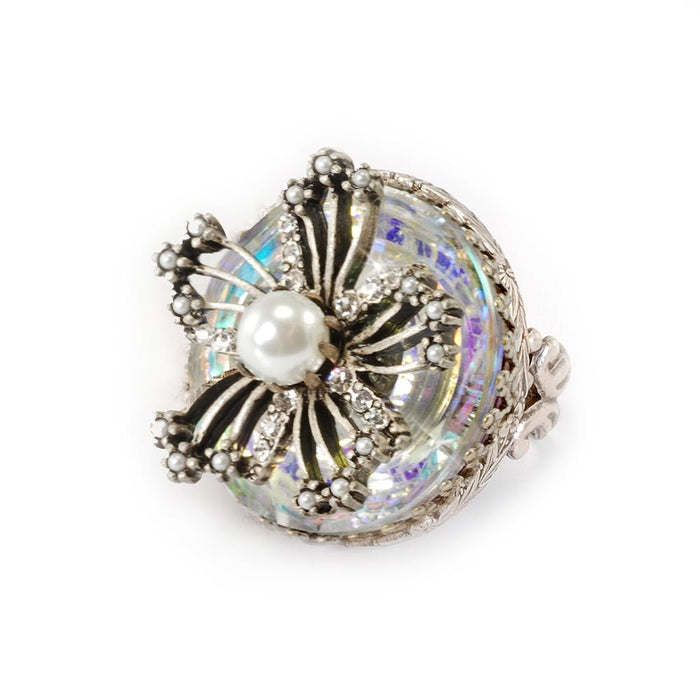 Flower Queen Crystal Ring - Sweet Romance Wholesale