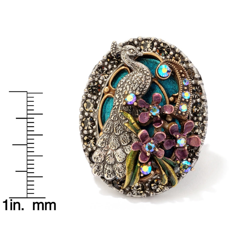 Peacock Flourish Ring - Sweet Romance Wholesale