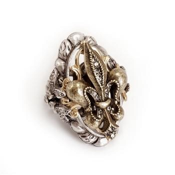 French Ritz Fleur De Lis Ring - Sweet Romance Wholesale