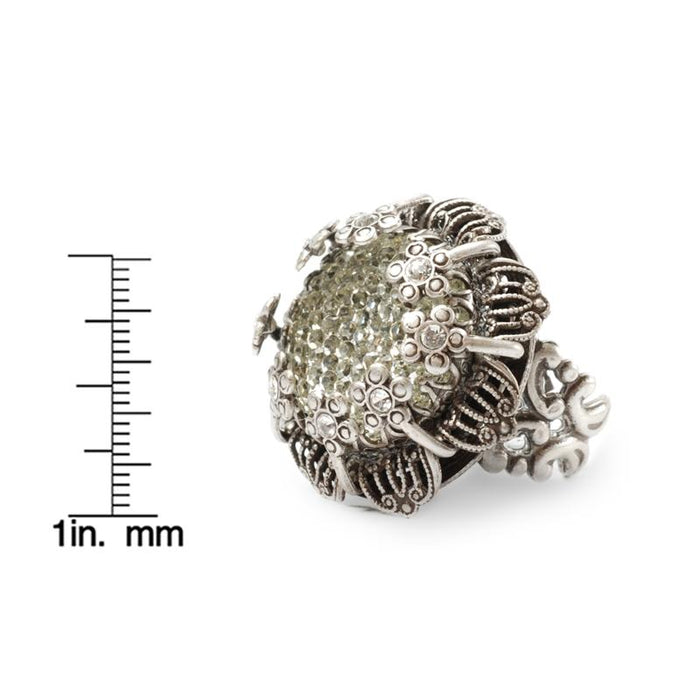 Crystal Flower Ring OL_R406 - Sweet Romance Wholesale