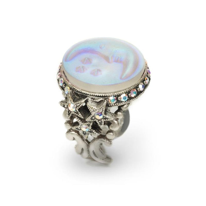 Opalescent Moon Ring R423 - Sweet Romance Wholesale