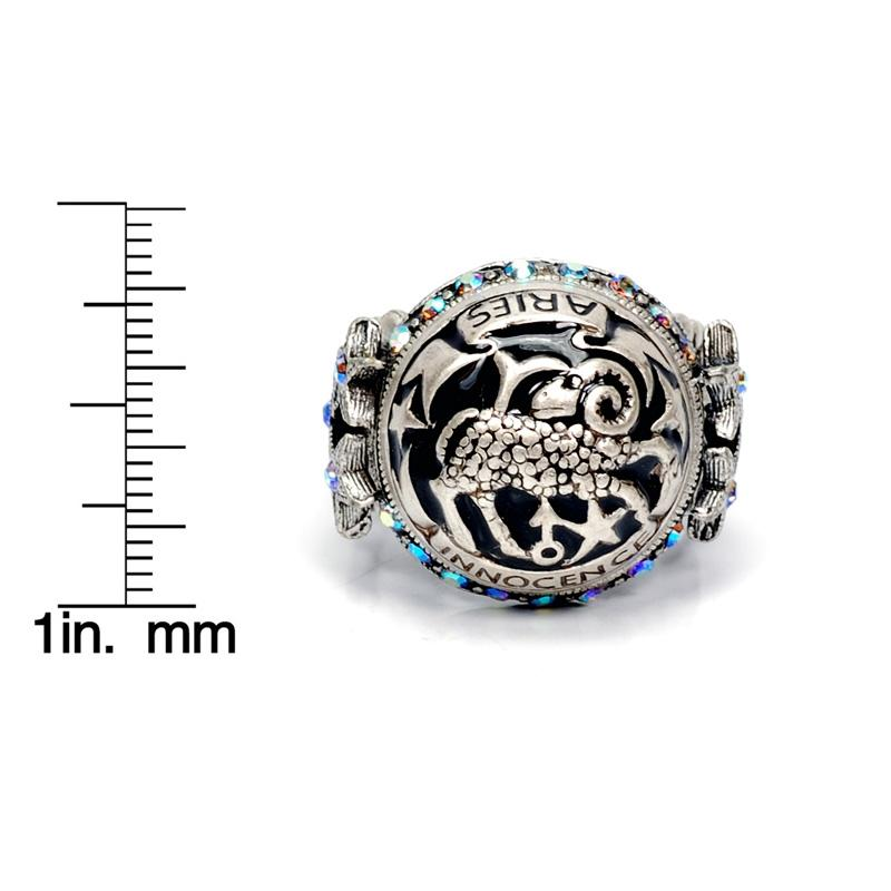 Aquarius Zodiac Rings R426-AQ
