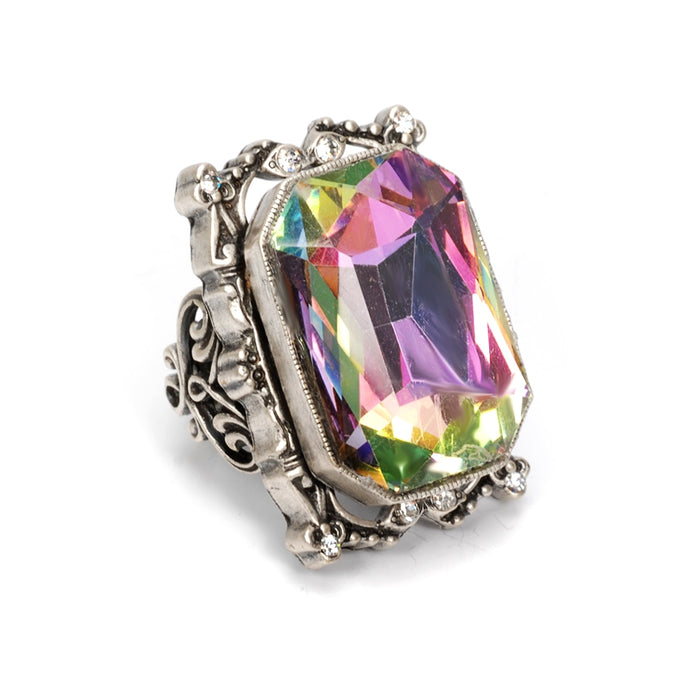 Grand Octagon Crystal Ring OL_R436 - Sweet Romance Wholesale