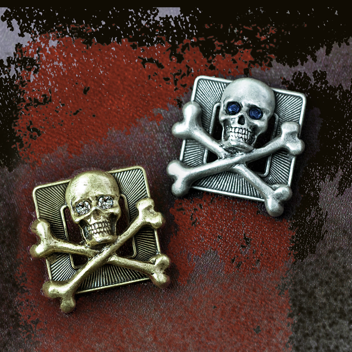 Skull & Crossbones Pin P653 - Sweet Romance Wholesale
