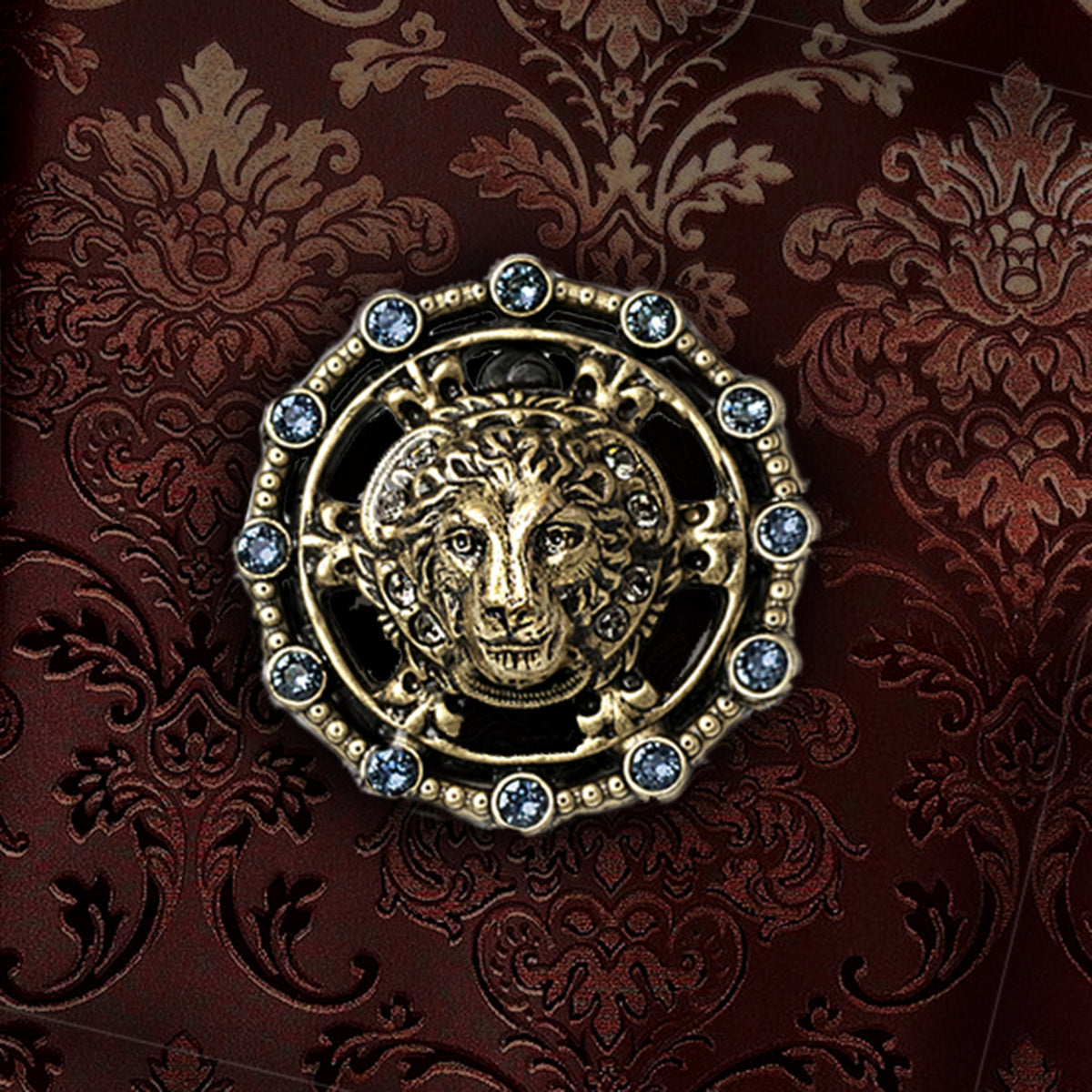 Lion Medallion Pin P654 - Sweet Romance Wholesale