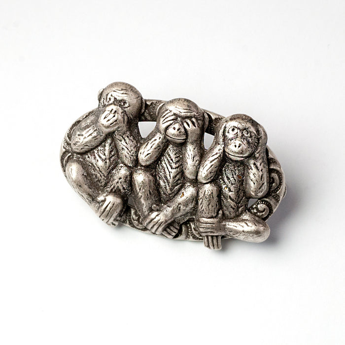 Speak no evil, See no evil , Hear no Evil Monkey Pin P661 - Sweet Romance Wholesale