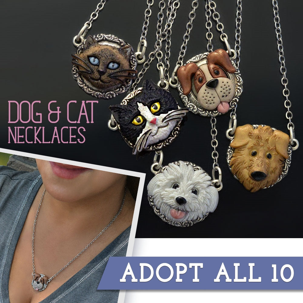 10 Dog & Cat Lovers Necklaces PREPAKN1542-N1543
