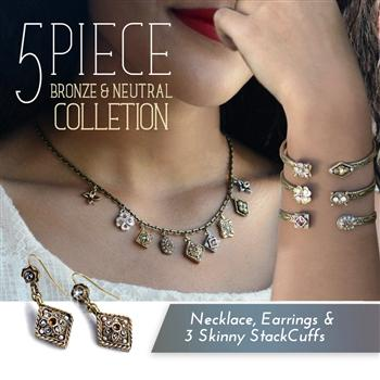 5 Piece Bronze Neutral Collection SET530 - Sweet Romance Wholesale