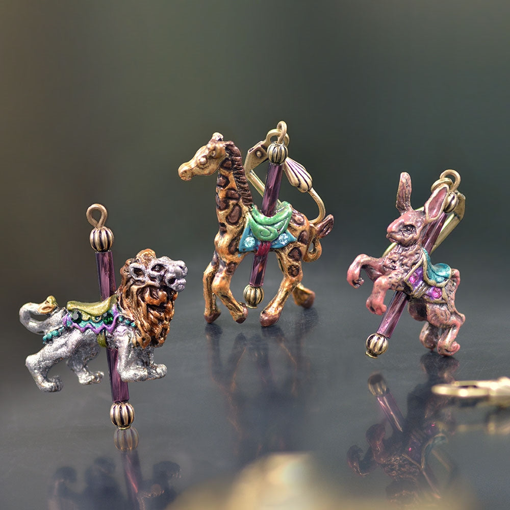Carousel Animal Earrings E240 - Sweet Romance Wholesale
