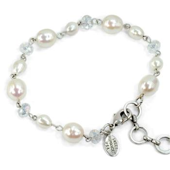 Pearls and Crystal Bracelet - Sweet Romance Wholesale