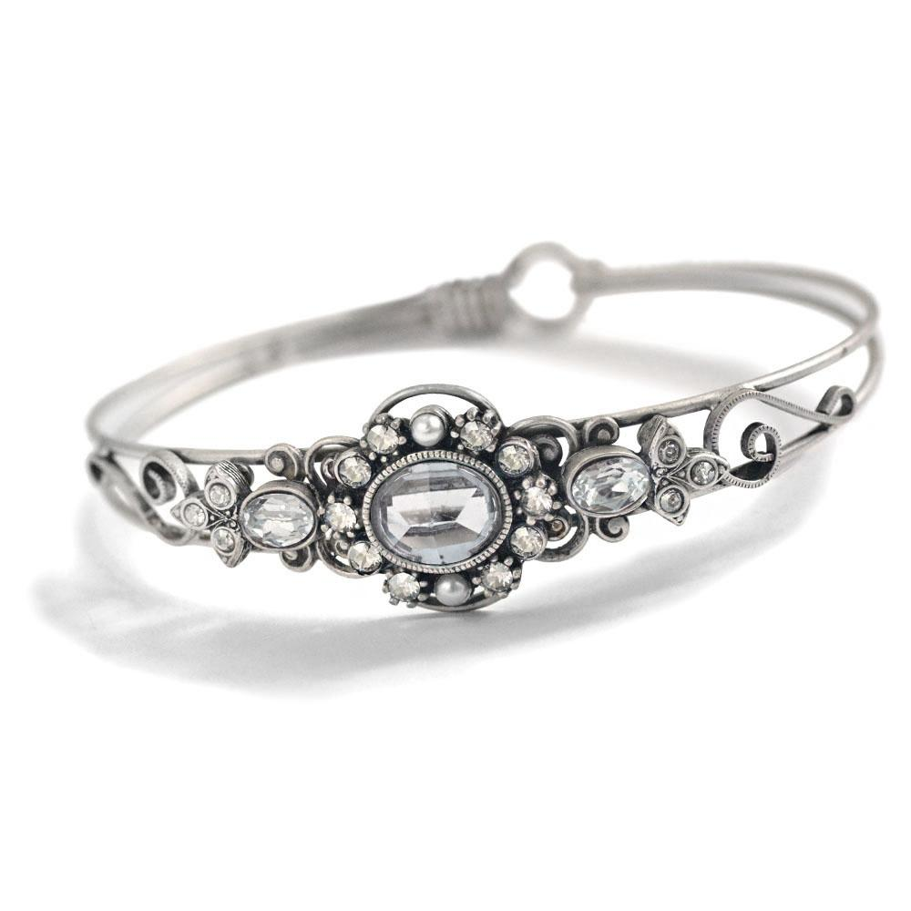 Stackable Victorian Jeweled Bangle Bracelet BR1260 - Sweet Romance Wholesale