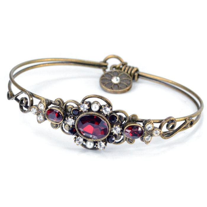 Victorian Jeweled Bangle Bracelet BR1260 - Sweet Romance Wholesale