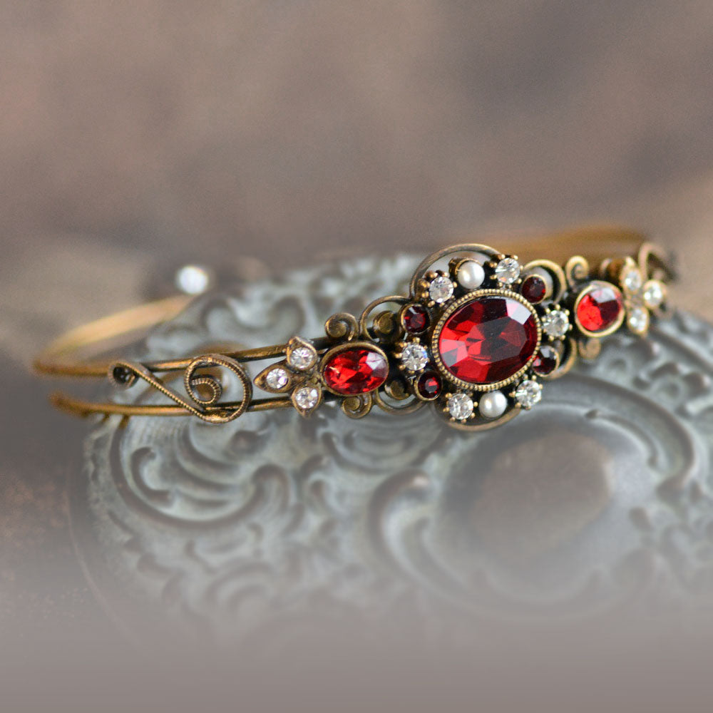 Victorian Jeweled Bangle Bracelet BR1260