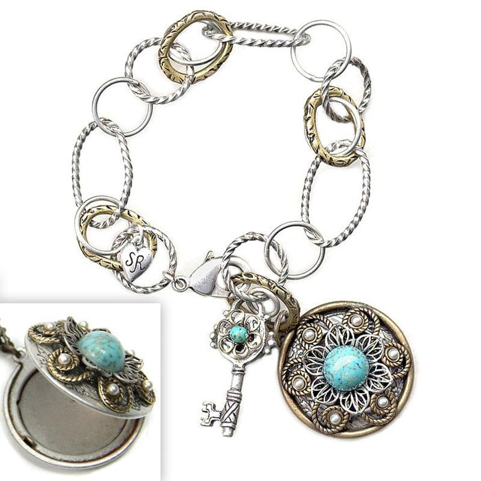 Locket & Key Bracelet - Sweet Romance Wholesale