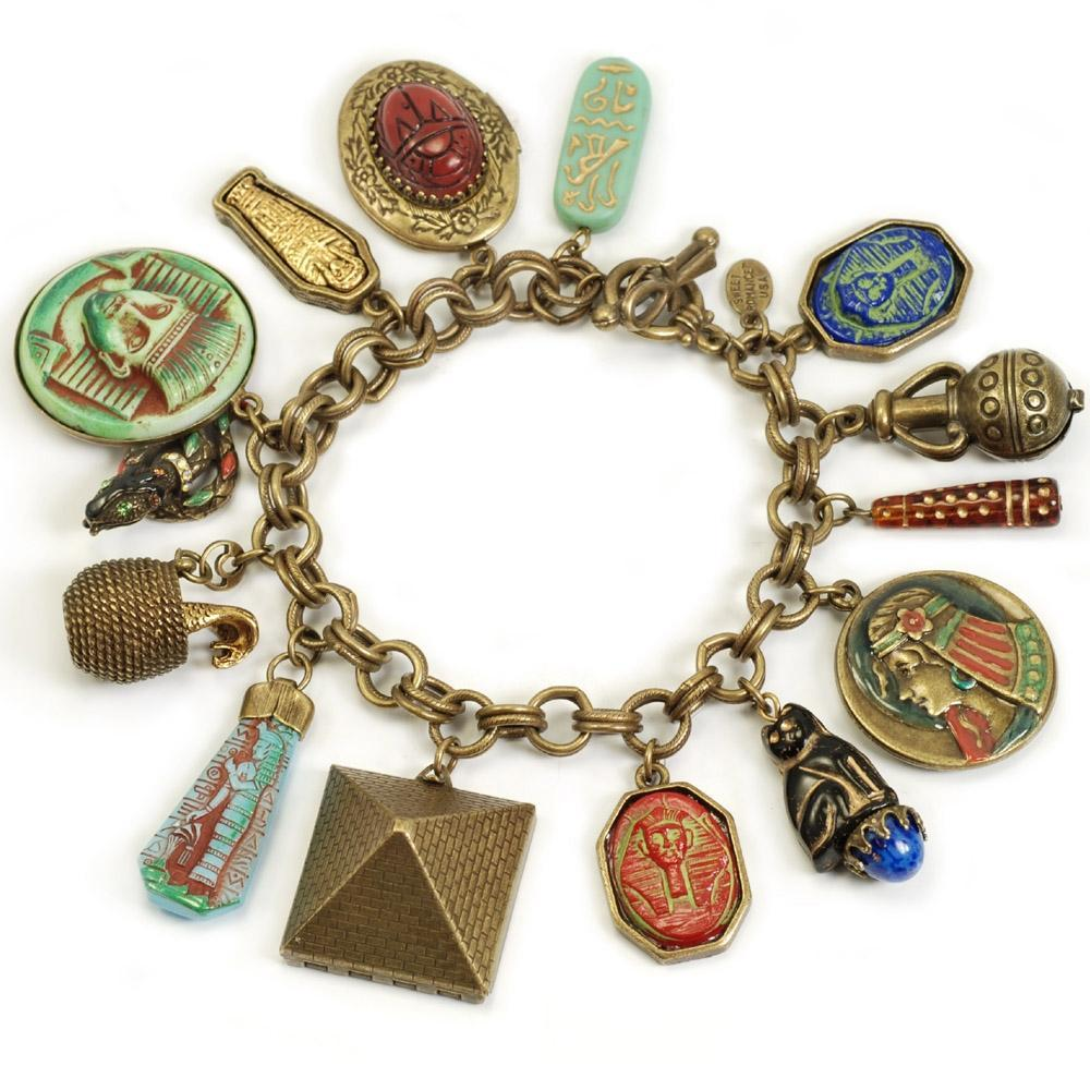 King Tut's Ancient Egyptian Charm Bracelet - Sweet Romance Wholesale