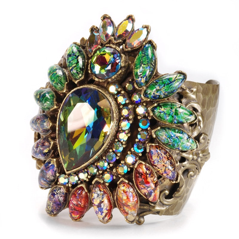 Vintage Opal Glass Cuff Bracelet - Sweet Romance Wholesale