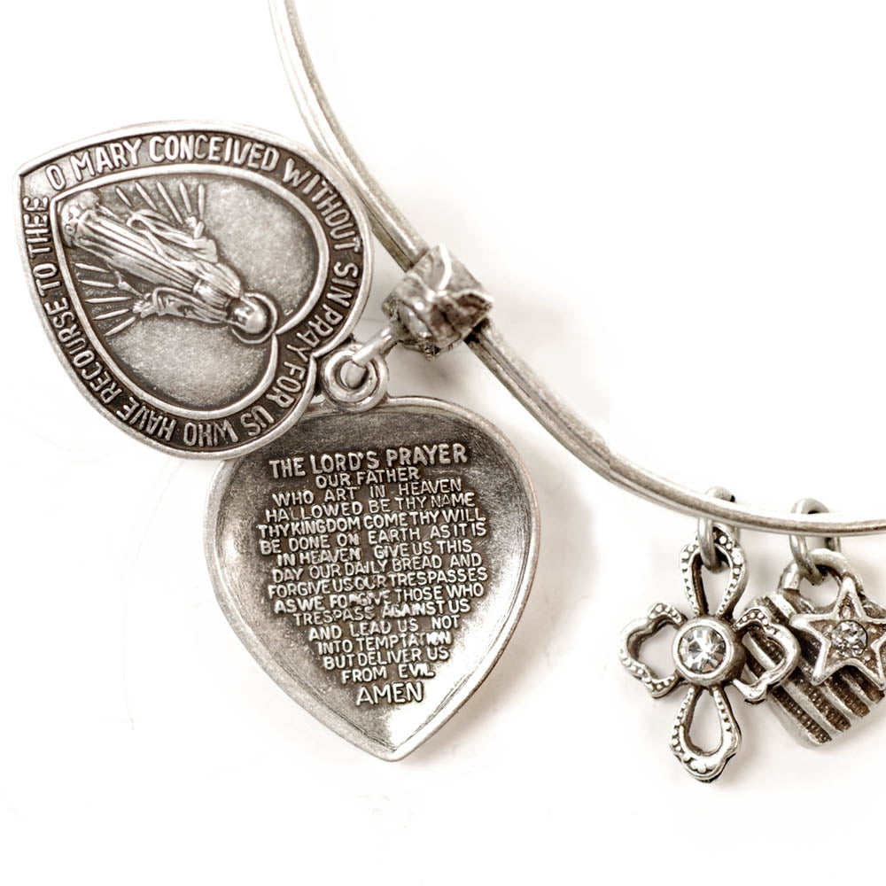 Faith (Lord's Prayer) Bangle - Sweet Romance Wholesale