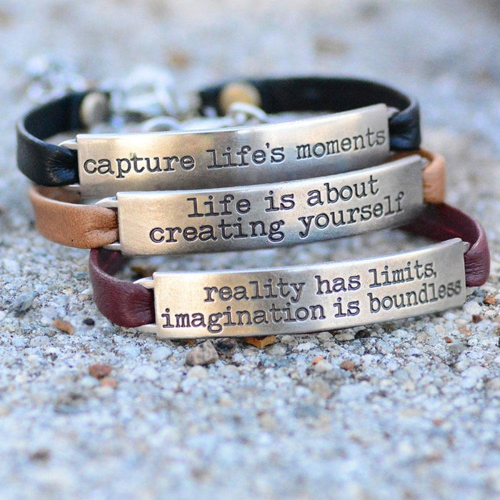 Inspirational Message Bar Bracelets - Sweet Romance Wholesale
