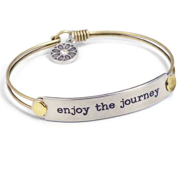 Enjoy The Journey Inspirational Message Bracelet BR414 - Sweet Romance Wholesale
