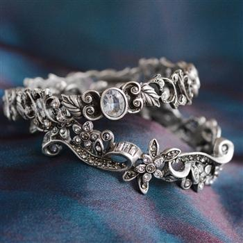 Sarafina & Caroline Bangle Bracelet Set - Sweet Romance Wholesale